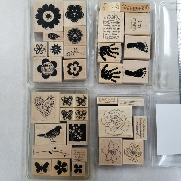 Stampin Up Rubber Stamps Lot of 4